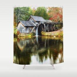 Mabry Mill Autumn Shower Curtain