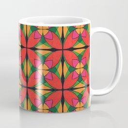 Symmetrical four-petalled arabesque flower Coffee Mug