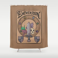 Enchiridion Shower Curtain