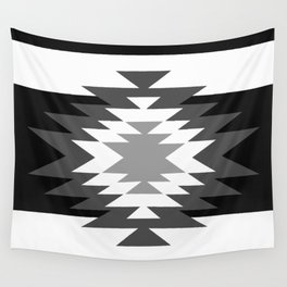 Aztec - black and white Wall Tapestry