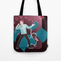 heroes Tote Bags featuring Heroes by Kivitasku Designs