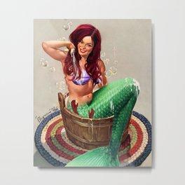 Not So Little Mermaid Ariel Metal Print
