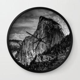 Half Dome Chrome Wall Clock
