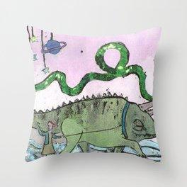 The Buò planet Throw Pillow