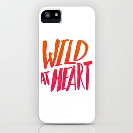 Wild At Heart x Typography Flame Ombre iPhone Case