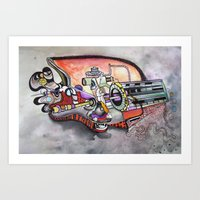 technology Art Prints featuring Technology System1 by infloence