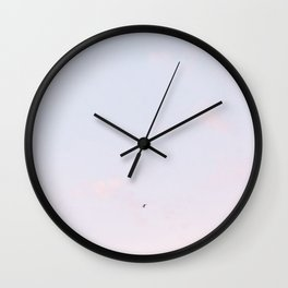 """Travel photography print """"Purple and Pink sky"""" photo art made in `Holland. Pastel colored Wall Clock"""