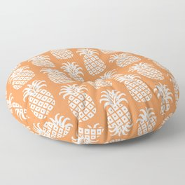 Mid Century Modern Pineapple Pattern Orange 3 Floor Pillow