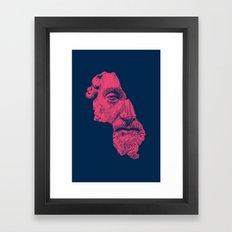 MARCUS AURELIUS ANTONINUS AUGUSTUS / prussian blue / vivid red Framed Art Print