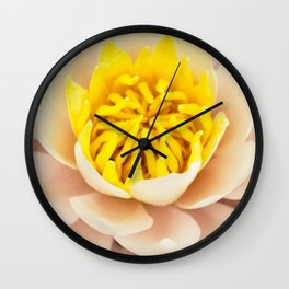 Palest pink lily Wall Clock