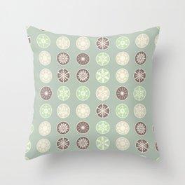 Pastel snowflakes Throw Pillow