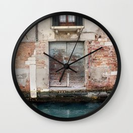 A venice door Wall Clock