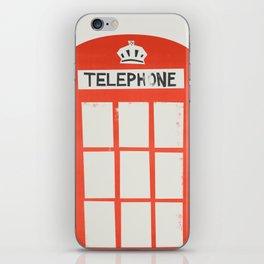 Red London Telephone Box iPhone Skin