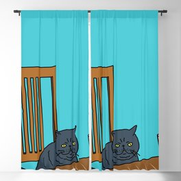 Cat's Afternoon Tea Time Blackout Curtain