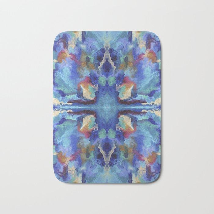 Watercolor Rorschach Bath Mat