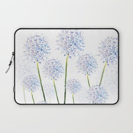 Pretty Flowers in Blue and Violet Laptop Sleeve