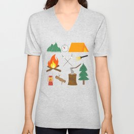 Let's Explore The Great Outdoors - Light Blue Unisex V-Neck