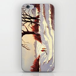 Sledding At Christmas Time iPhone Skin