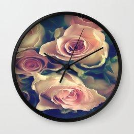 Pinkness roses Wall Clock