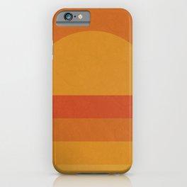Retro Geometric Sunset iPhone Case