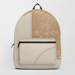 Modern gold spatter watercolor window Backpack