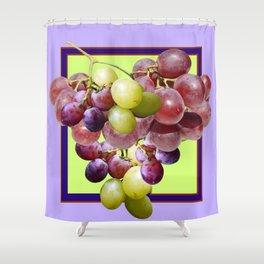 CLUSTER WINE GRAPES VINEYARD DESIGN Shower Curtain