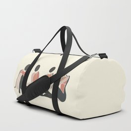 Woman Forms Duffle Bag