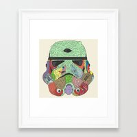 gore Framed Art Prints featuring Gore Trooper  by Josh Ln