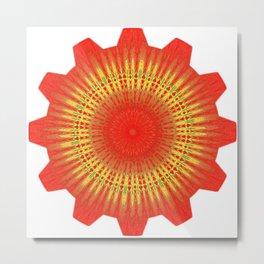 Sun wheel Metal Print