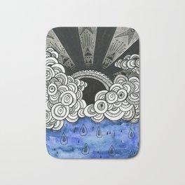 Black Rain Bath Mat