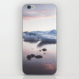 Sunset over Glacier Lagoon - Landscape and Nature Photography iPhone Skin
