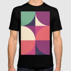 Quarters Quilt 3 MEDIUM Black Mens Fitted Tee