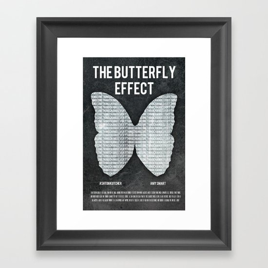 the butterfly effect film poster Framed Art Print