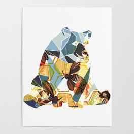 Bears & bees Poster