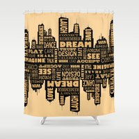 motivational Shower Curtains featuring Motivational by Andreea Red