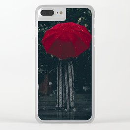 red umbrella #society6 #decor #buyart Clear iPhone Case
