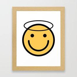 Smiley Face   Halo Holy Smiling Face Framed Art Print