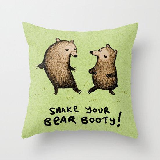 Bear Booty Dance Throw Pillow