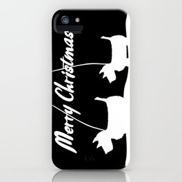 Westie White Christmas iPhone Case