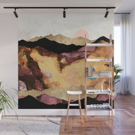 Mauve and Gold Mountains Wall Mural