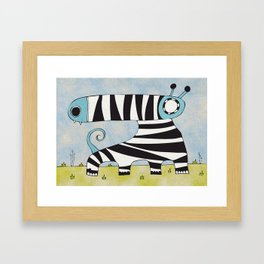 Blue Mummynimal Framed Art Print