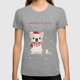 French Bulldog Waiting for Santa - Cream Edition T-shirt