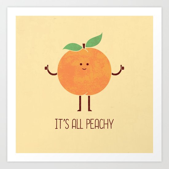 All Peachy Art Print by Teo Zirinis