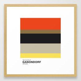 The Colors of Ganondorf Framed Art Print