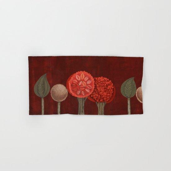Red Grove Hand & Bath Towel