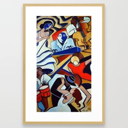 The Blue Piano Framed Art Print