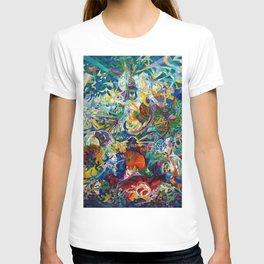Coney Island, American Dreamland New York City Amusement Park by Joseph Stella T-shirt