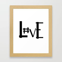 Hashtag Love Framed Art Print