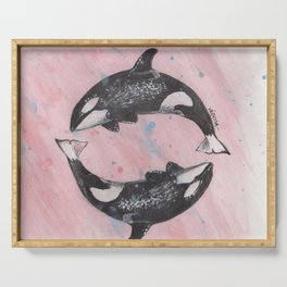 Orca Killer Whales Serving Tray