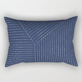 Lines (Navy) Rectangular Pillow